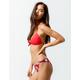 FULL TILT Twist Side Red Cheeky Bikini Bottoms