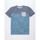 GROM Static Blue Boys Pocket Tee