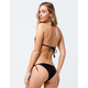 FULL TILT Tie Side Black Cheeky Bikini Bottoms