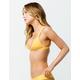 FULL TILT Trilet Yellow Bikini Top
