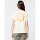ROXY Back In The Day Yellow Womens Tee