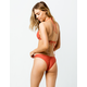 VOLCOM Simply Solid V Burnt Red Cheeky Bikini Bottoms