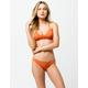 RVCA Solid Super Cheeky Orange Bikini Bottoms