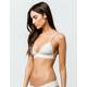 HURLEY Quick Dry Bralette Light Cream Bikini Top