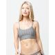 VOLCOM Plaid Attitude Scoop Reversible Bikini Top