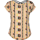 FULL TILT Cross Back Ethnic Print Girls Tee