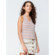 OTHERS FOLLOW Stripe Womens Halter Top