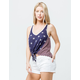 OTHERS FOLLOW Tie Front Womens Tank Top