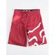 FOX Stock Red Boys Boardshorts