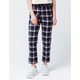 SKY AND SPARROW Plaid Womens Crop Trouser Pants