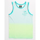 HURLEY Ombre Stripe Teal Blue Boys Tank Top