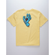 SANTA CRUZ Screaming Hand Yellow Boys T-Shirt