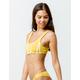 RVCA Solid Crop Mustard Bikini Top