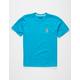 VOLCOM Deadly Stone Blue Boys T-Shirt