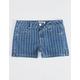 RSQ Malibu Stripe Girls Denim Shorts