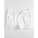 RSQ Venice Mid Rise White Girls Ripped Denim Shorts