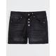 RSQ Sunset High Rise Exposed Button Black Girls Denim Shorts