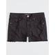 RSQ Venice Mid Rise Wash Black Girls Ripped Denim Shorts