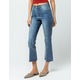 SKY AND SPARROW Seamed Crop Womens Flare Jeans