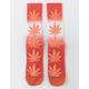 HUF Plantlife Gradient Dye Orange Mens Crew Socks