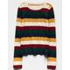 WHITE FAWN Multi Stripe Girls Sweater