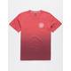 VOLCOM Disestablished Dip Dye Raspberry Boys T-Shirt