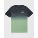 VOLCOM Disestablished Dip Dye Green Boys T-Shirt