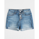 RSQ Sunset High Rise Exposed Button Girls Denim Shorts