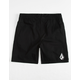 VOLCOM Deadly Stones Black Boys Volley Shorts