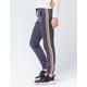 SKY AND SPARROW Side Stripe Slate Blue Womens Jogger Pants