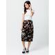 SKY AND SPARROW Floral Midi Skirt