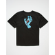 SANTA CRUZ Screaming Hand Black Boys T-Shirt