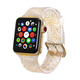 ELEMENT WORKS 38mm Gold Glitter Silicone Apple Watch Wristband