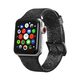 ELEMENT WORKS 38mm Black Glitter Silicone Apple Watch Wristband