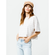 RVCA VAVA Stripe Womens Crop Tee
