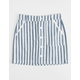 REWASH Beach Stripe Button Front Girls Skirt