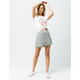 SKY AND SPARROW Ditsy Floral Button Front Mini Skirt