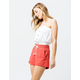 SKY AND SPARROW Rope Tie Waist Linen Womens Shorts