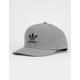 ADIDAS Originals Trefoil Heather Gray & Black Mens Snapback Hat