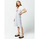 IVY & MAIN Stripe Button Front Midi Skirt