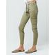 REWASH Twill Green Womens Skinny Cargo Pants