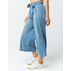 REWASH Chambray Crop Womens Wide Leg Pants