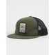 RIP CURL Never Stop Military Green Mens Trucker Hat