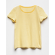 FULL TILT Essentials Stripe Yellow Girls Tee