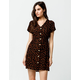 PATRONS OF PEACE Floral Button Front Dress