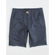NITROUS BLACK Angle Navy Boys Jogger Shorts