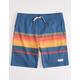 PUBLIC ACCESS Dawn Stripe Navy Boys Volley Shorts
