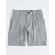 RVCA Balance Dark Gray Boys Hybrid Shorts