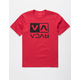 RVCA Flip Box Red Boys T-Shirt