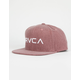 RVCA Twill Rustic Red Mens Snapback Hat